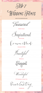 My Top 7 Fonts for Weddings | Font Series #01