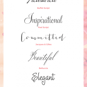 fonts for wedding