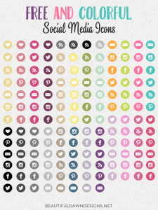 Free and Colorful Social Media Icons