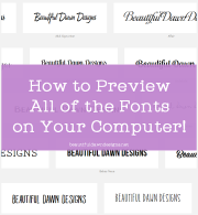 How to Preview The Fonts on Your Computer