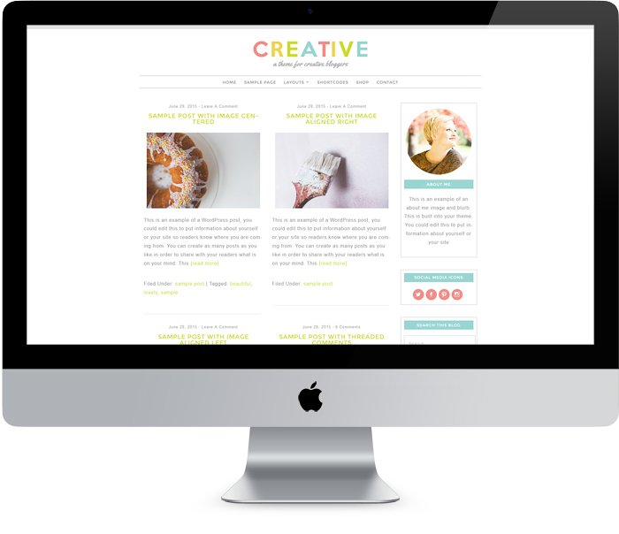 A WordPress theme for creative bloggers.