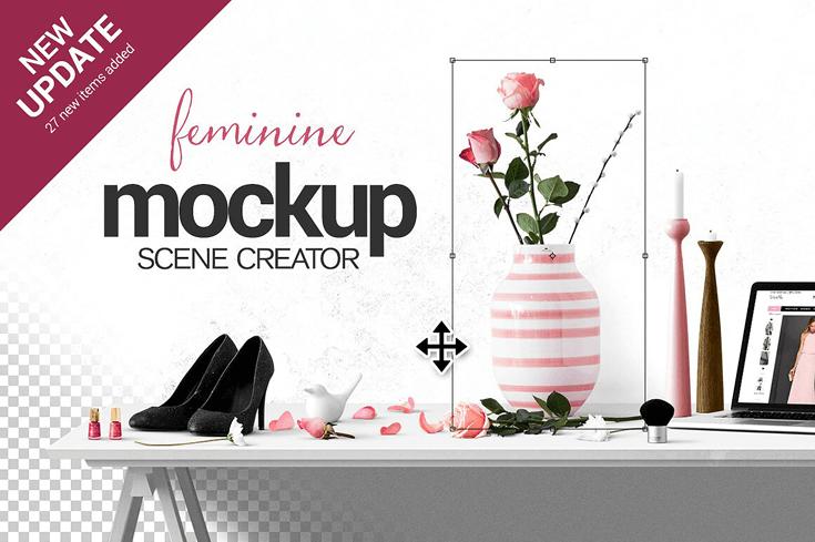 feminine mockup