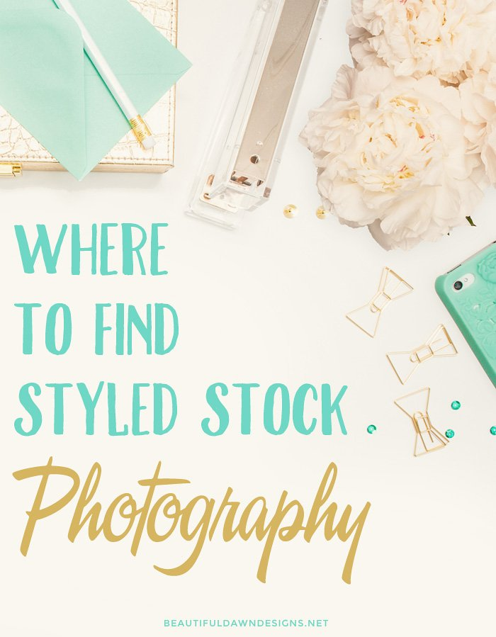 A list of places to find beautiful styled stock photography for your blog or business.