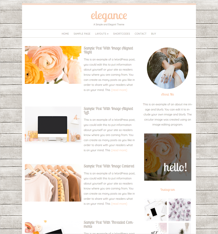 elegance theme