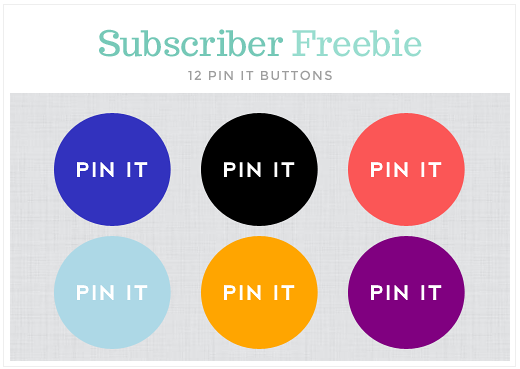 Free Pinterest Pin It Buttons