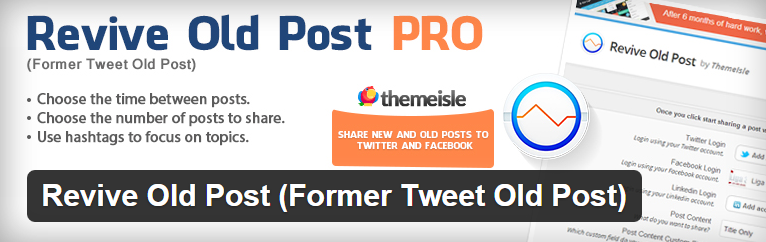 how to schedule tweets with revive old post pro