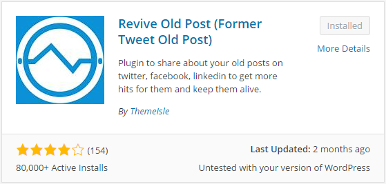 Revive old post (former Tweet Old Post)