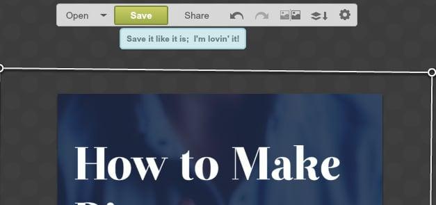 saving the image
