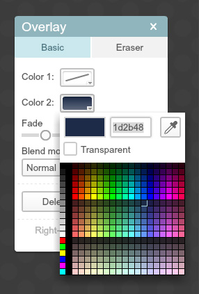 using the overlay color
