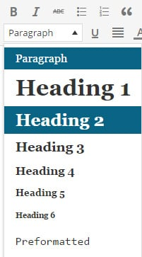 use headings for seo