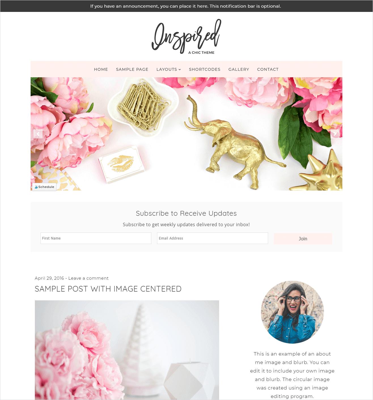 Beautiful Dawn Designs - Inspired WordPress Theme