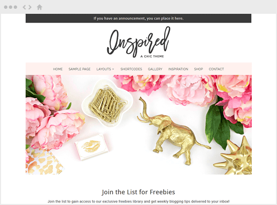 Inspired - feminine WordPress themes