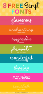 8 Free Script Fonts | Font Series #27
