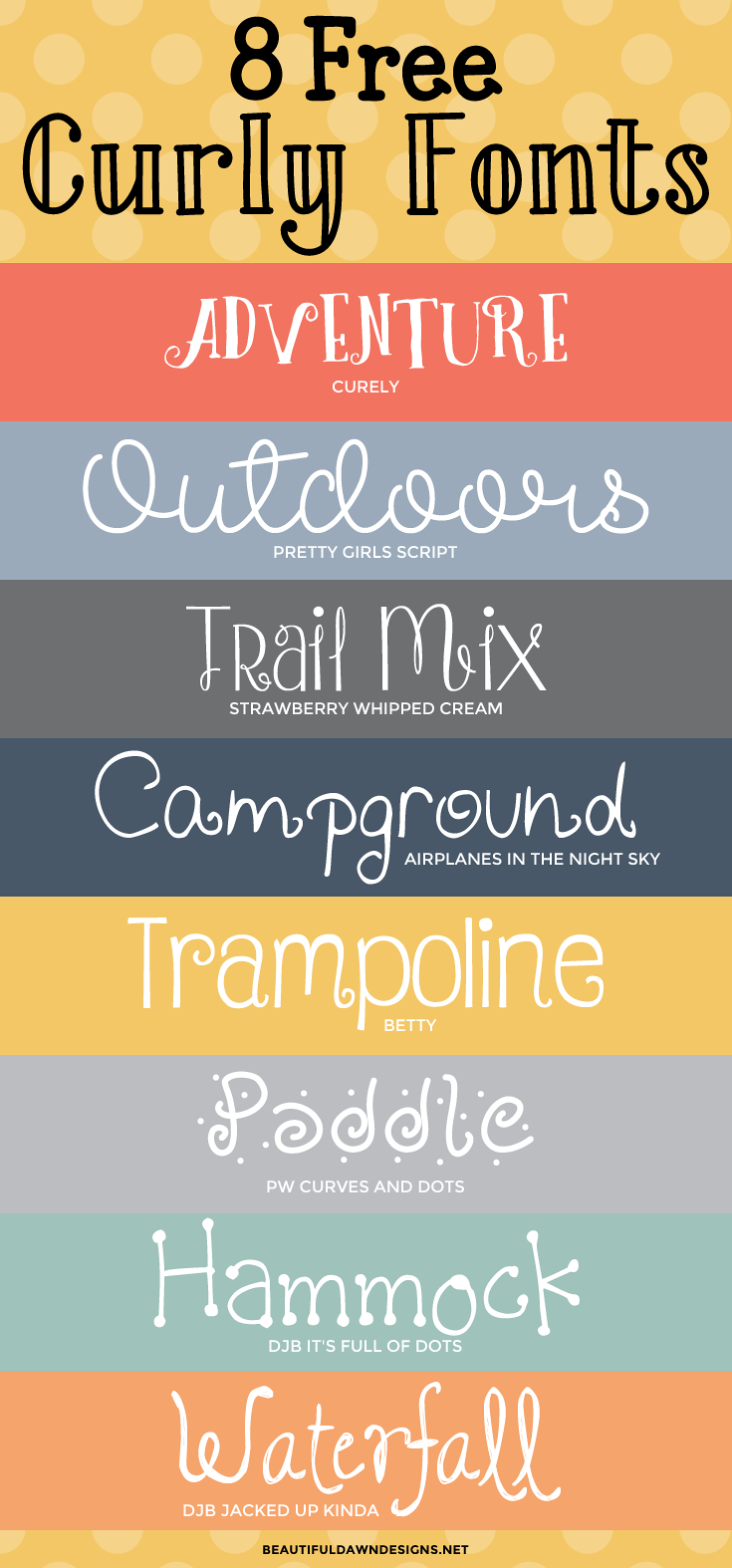 8 free curly fonts