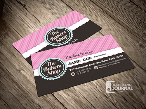 10 free business card templates for bloggers beautiful dawn designs bakery shop business card template reheart Images