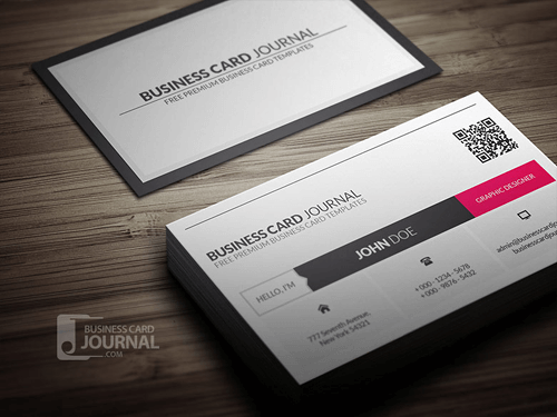 10 free business card templates for bloggers beautiful dawn designs metro style business card template with qr code reheart Image collections