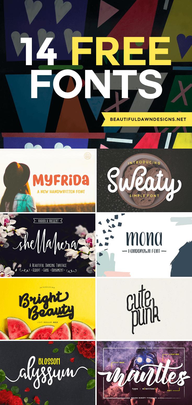 14 free popular fonts