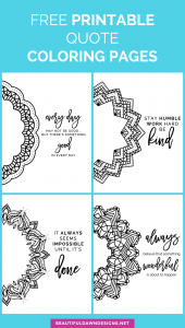 Free Printable Mandala Quote Coloring Pages