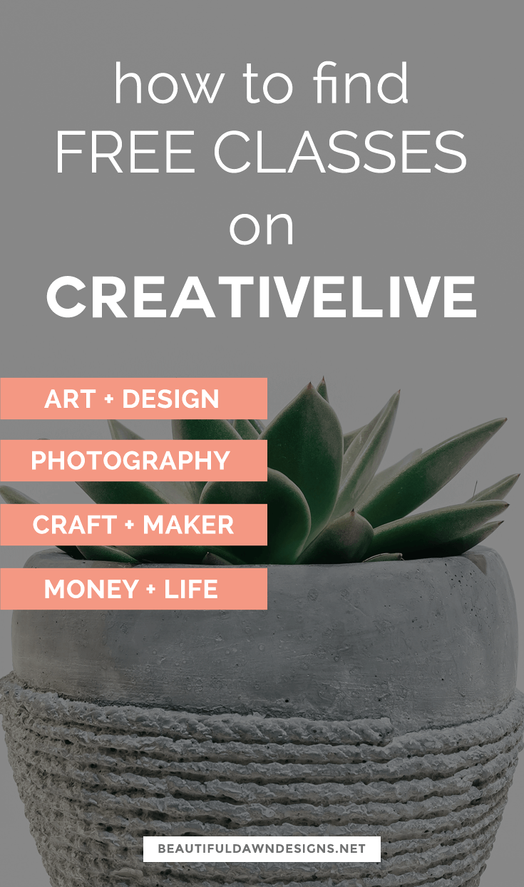 CreativeLive offers online classes on photo + video, art + design, music + audio, DIY + crafts, marketing, business, and entrepreneurship. All of which can be accessed on demand 24 hours a day. Make sure you check out CreativeLive's Free On-Air Classesto see a current list offree classes. #creativelive #bloggingtips #freecourses #freeclasses
