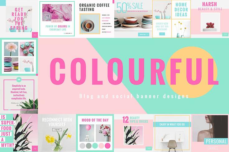 10 unique social media template packs beautiful dawn designs colorful social media designs maxwellsz