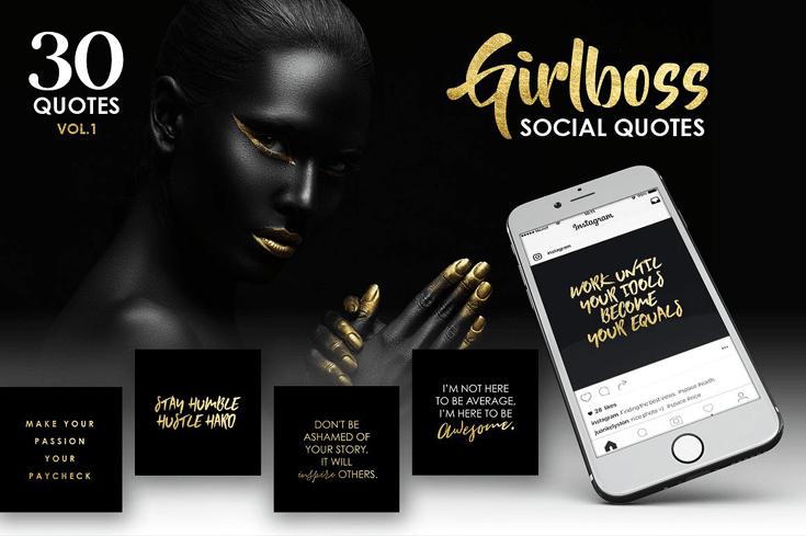 GOLD GIRLBOSS SOCIAL MEDIA QUOTES