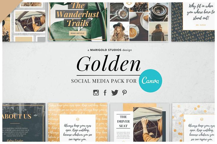 CANVA | GOLDEN SOCIAL MEDIA PACK