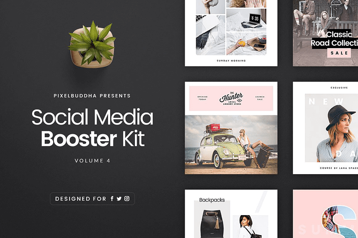 10 Unique Social Media Template Packs Beautiful Dawn Designs