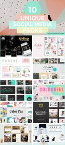 10 Unique Social Media Template Packs