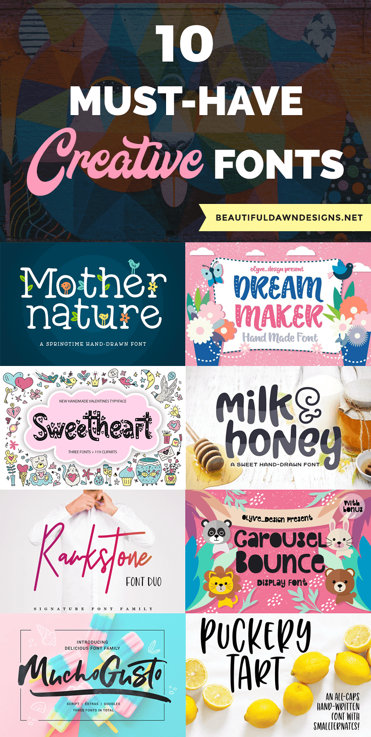 10 must-have creative fonts