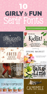 10 Fun and Girly Serif Fonts