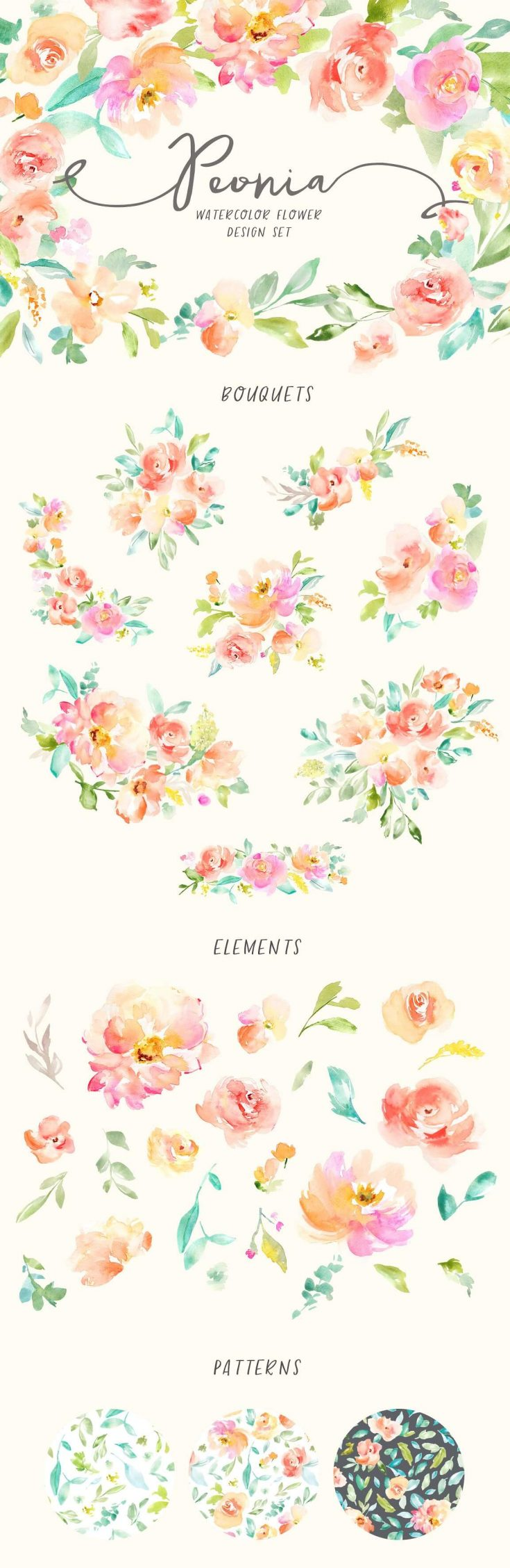 Floral Watercolor Clip Art For Your Next Project Beautiful Dawn