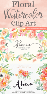 Floral Watercolor Clip Art for Your Next Project
