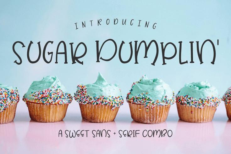sugar dumplin font