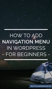How to Add Navigation Menu in WordPress – For Beginners