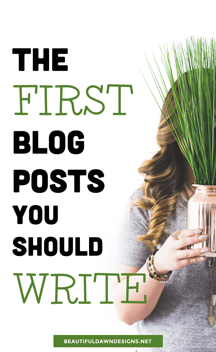 First blog posts to write