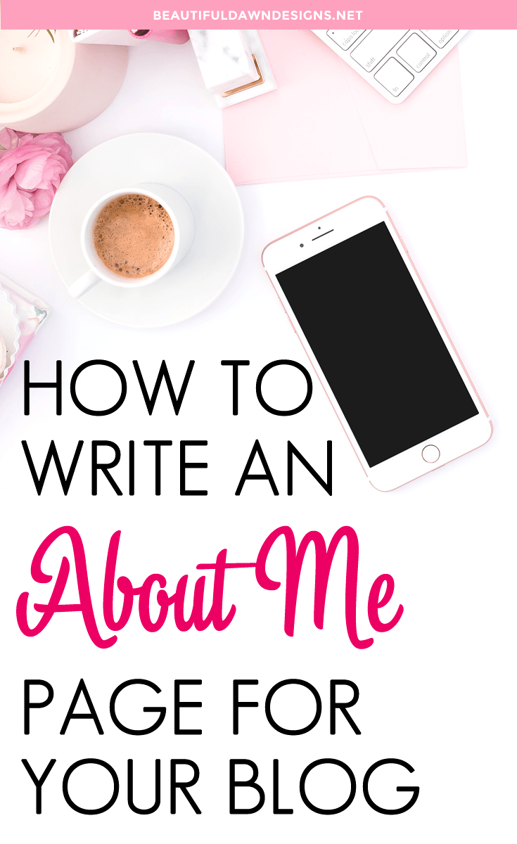 How to write an about me page for your blog. Blogging tips.
