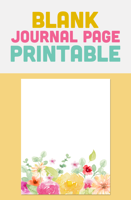 image relating to Printable Journal referred to as Blank Magazine Web page Printable