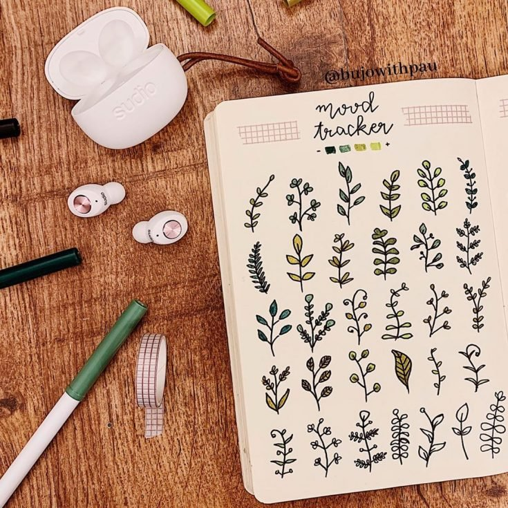 GREEN PLANTS Mood tracker 8