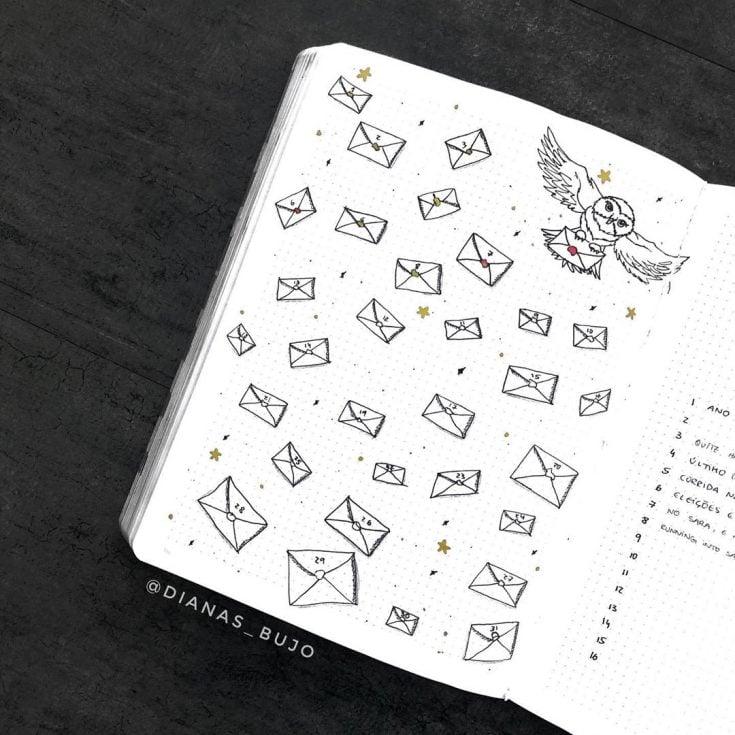 HARRY POTTER OWL Mood tracker 12