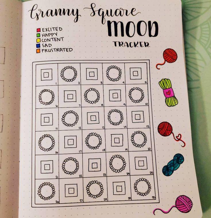 GRANNY SQUARES Mood tracker 17