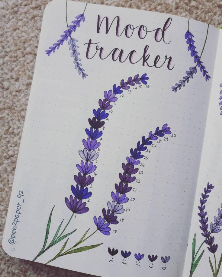 PURPLE LAVENDER  Mood tracker 13