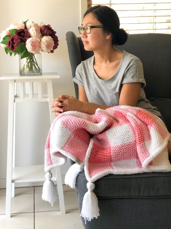 cozy knit blanket