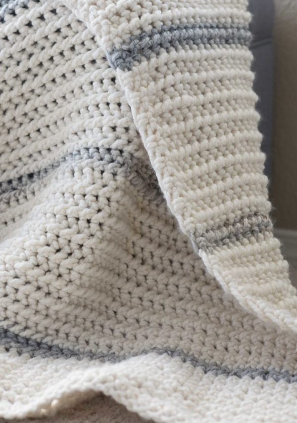 WINTER CHUNKY RIBBED CROCHET AFGHAN PATTERN