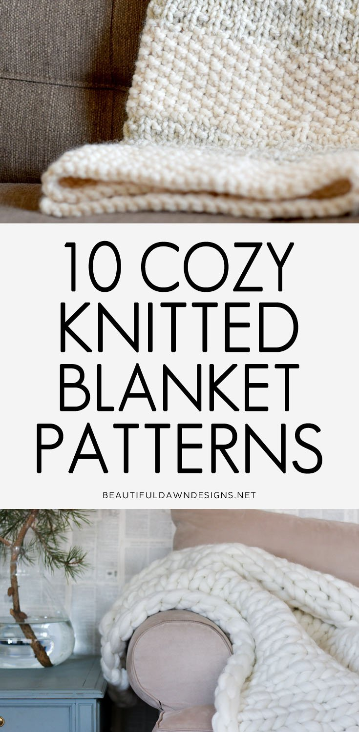 10 Cozy Knitted Blanket Patterns
