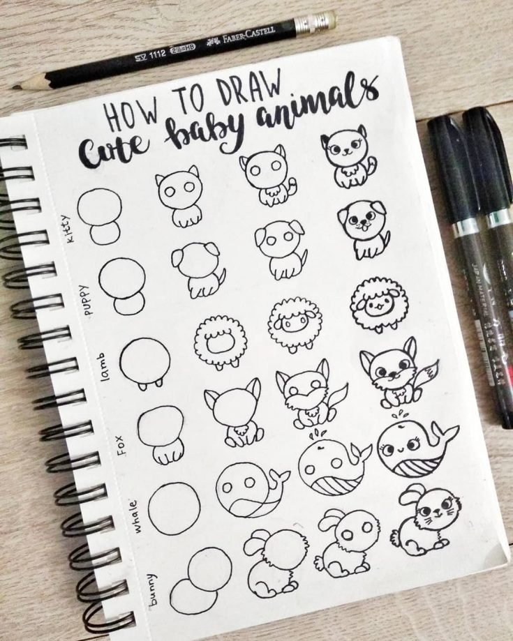 HOW TO DRAW CUTE BABY ANIMALS