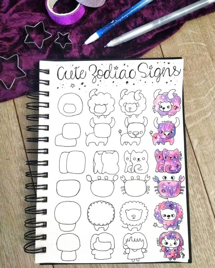 HOW TO DRAW CUTE ZODIAC SIGNS