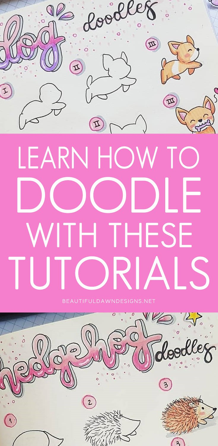 Learn how to doodle with these easy tutorials