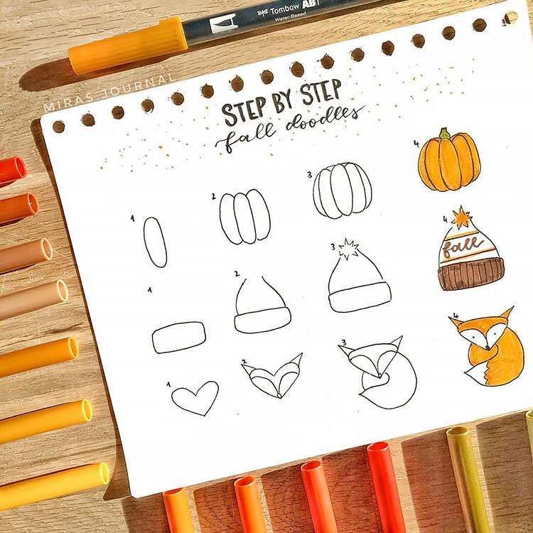 HOW TO DRAW FALL DOODLES