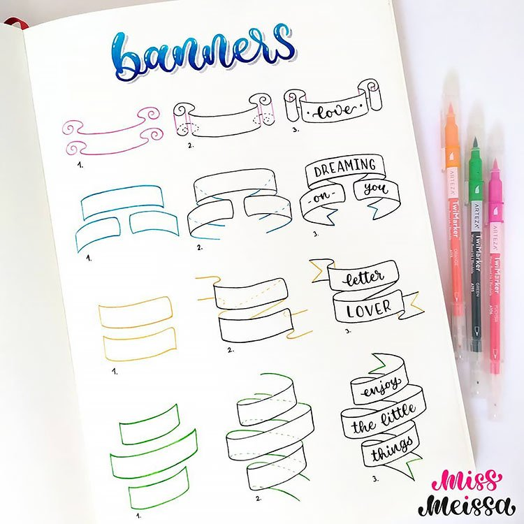 HOW TO DRAW BANNERS