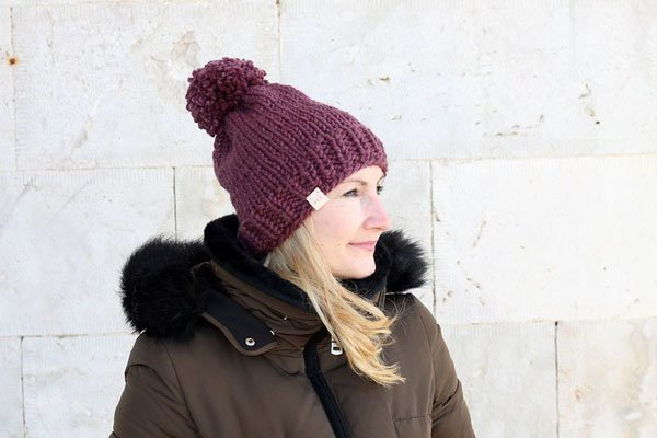 KNIT HAT FOR BEGINNERS